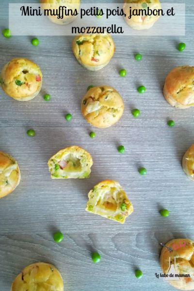 muffins petits pois jambon mozzarella